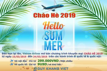VIETNAM AIRLINES KHUYẾN MẠI: CHÀO MÙA HÈ 2019