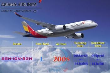 HÃNG KHÔNG ASIANA AIRLINES KHUYẾN MẠI ĐI HÀN QUỐC