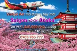 VIETJET AIR MỞ ĐƯỜNG BAY SAIGON - OSAKA (Khởi hành từ 14/12/2018)
