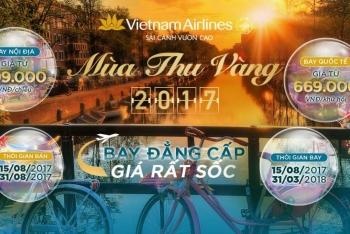 KHUYẾN MẠI VIETNAM AIRLINES MÙA THU VÀNG 2017