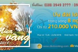 KHUYẾN MẠI: MÙA THU VÀNG 2018 - VIETNAM AIRLINES