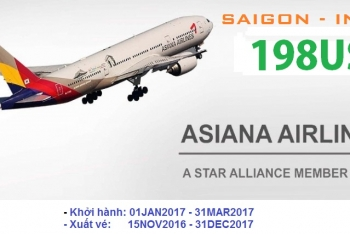 ASIANA AIRLINES KHUYEN MAI DI INCHEON 198USD